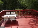 Deck view from dining area - 14928 AMPSTEAD CT, CENTREVILLE