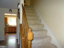 Staircase to first level - 14928 AMPSTEAD CT, CENTREVILLE