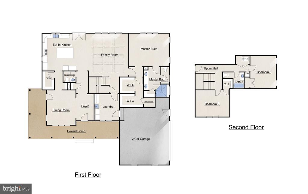 Floor Plan - 627 HARRISON CIR, LOCUST GROVE