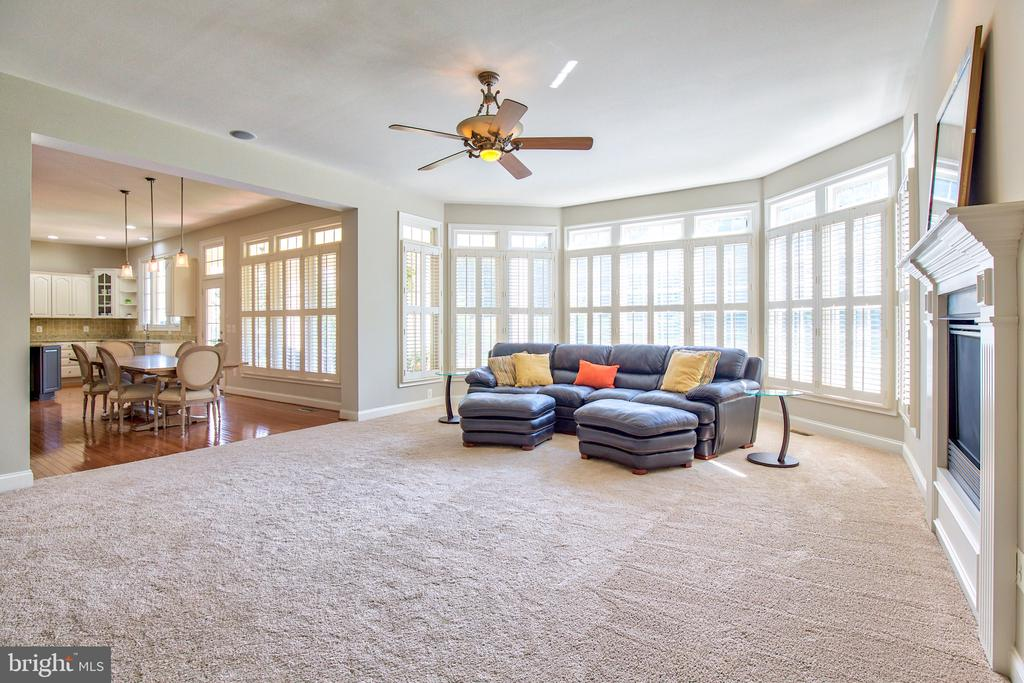 Family room with new carpet and shutters - 40771 BLACK GOLD PL, LEESBURG