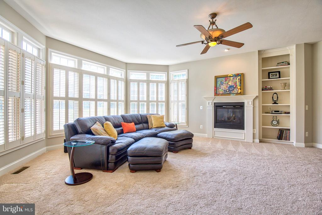 Built in book cases and gas fireplace - 40771 BLACK GOLD PL, LEESBURG