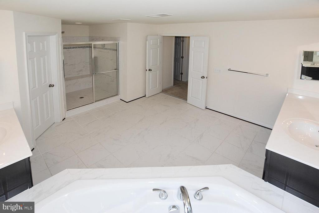 Master bathroom with upgraded tile and huge shower - 10306 SPRING IRIS DR, BRISTOW