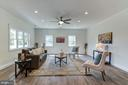Huge Living Room open to the Kitchen, Ceiling Fan - 5216 OLD MILL RD, ALEXANDRIA