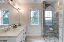 Comfort Height, Quartz Top,  Dual Sink Vanity - 5216 OLD MILL RD, ALEXANDRIA