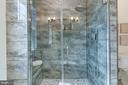 Owner's Walk-in Shower, Rain Shower, Jets, Bench - 5216 OLD MILL RD, ALEXANDRIA