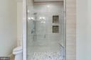 Glass Enclosed Walk-in Shower with Bench - 5216 OLD MILL RD, ALEXANDRIA