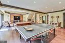 Space for all to play and watch the game - 12303 BLAIR RIDGE RD, FAIRFAX