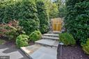 Grand entry to the garden and pool - 12303 BLAIR RIDGE RD, FAIRFAX