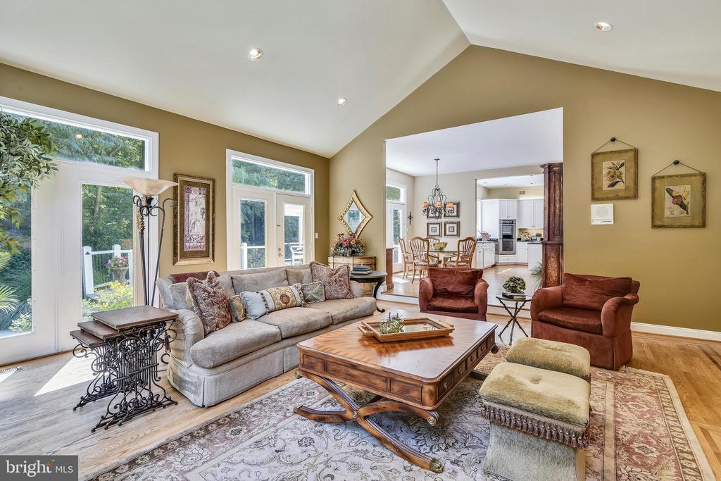 Family room connects to kitchen for fun times - 12303 BLAIR RIDGE RD, FAIRFAX