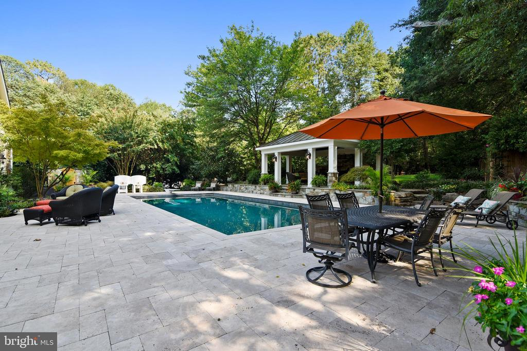 Pool has auto cover for weather and safety - 12303 BLAIR RIDGE RD, FAIRFAX