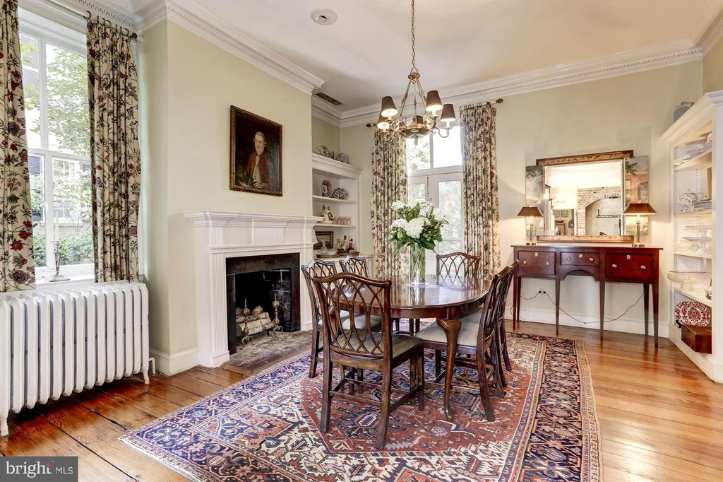Beautiful French doors lead to garden terrace - 209 S LEE ST, ALEXANDRIA