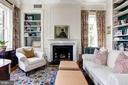 Bedroom/Library with wood burning fireplace - 209 S LEE ST, ALEXANDRIA