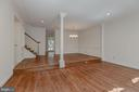 Open Living and Dining Rooms - 1503 N COLONIAL CT, ARLINGTON