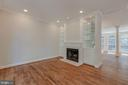 Family Room with Built-ins & Fireplace - 1503 N COLONIAL CT, ARLINGTON