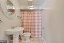 Half bathroom in the basement - 105 ELEY RD, FREDERICKSBURG