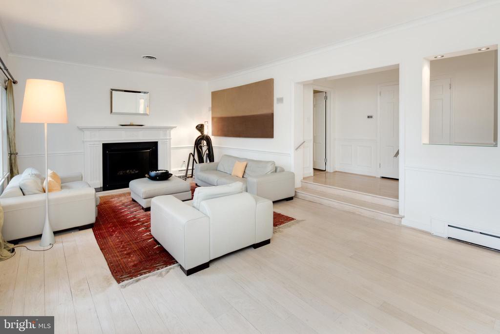 Sunken Living Room with Fireplace - 5016 LOUGHBORO RD NW, WASHINGTON