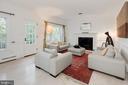 Living Room with Fireplace - 5016 LOUGHBORO RD NW, WASHINGTON