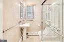 Main Level Hall Bath - 5016 LOUGHBORO RD NW, WASHINGTON