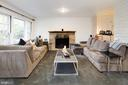 Above Grade Lower Level with Fireplace - 5016 LOUGHBORO RD NW, WASHINGTON