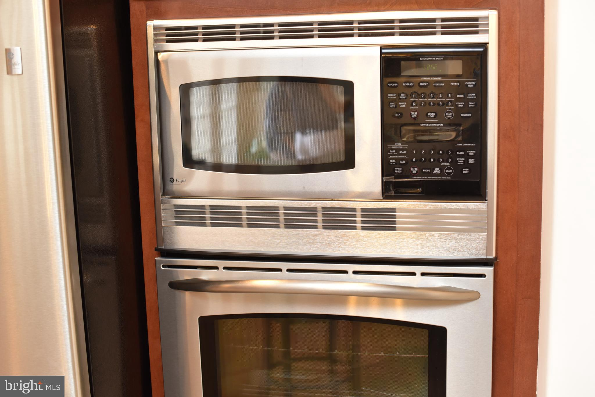Stainless steel, stacked oven and microwave