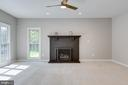 Family Room with Gas Fireplace - 43349 ROYAL BURKEDALE ST, CHANTILLY