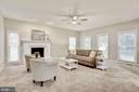 Family Room is spacious and filled with light - 42944 DEER CHASE PL, ASHBURN