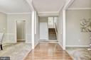 Foyer entrance opens to living and dining rooms - 42944 DEER CHASE PL, ASHBURN