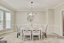 Large dining room with upgraded lighting - 42944 DEER CHASE PL, ASHBURN