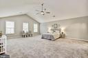 Large master bedroom with sitting area - 42944 DEER CHASE PL, ASHBURN