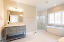 Expansive Master Bath w/ Seperate Vanities - 10605 SPRINGVALE LN, SPOTSYLVANIA