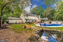 Backyard fish pond and burn pit - 5193 ALMERIA CT, MOUNT AIRY