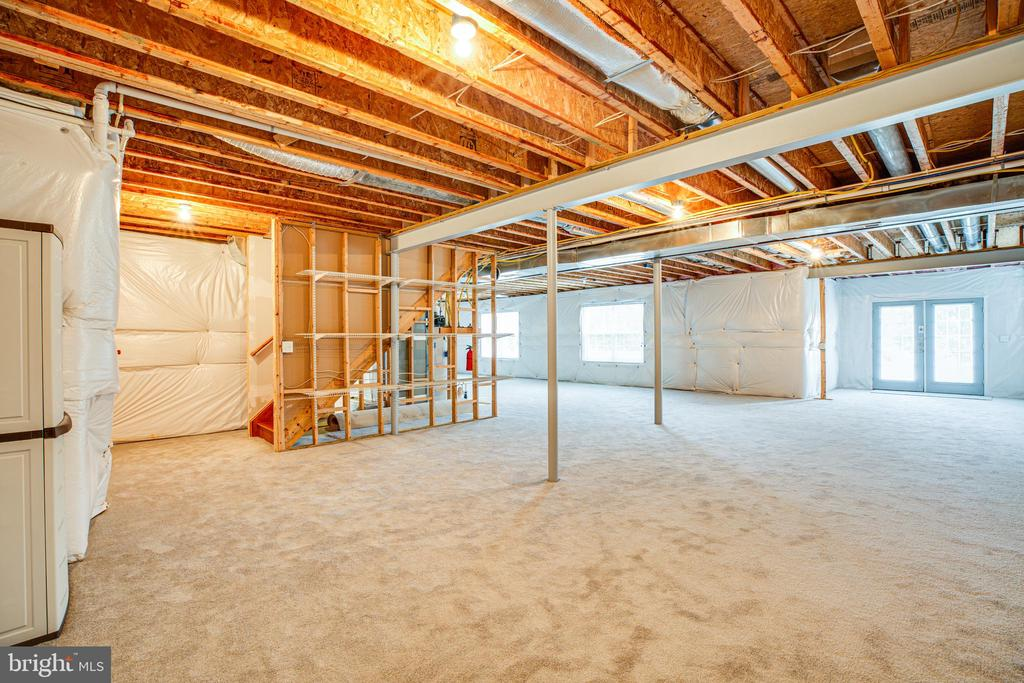 Partially finished basement has full bath, climate - 12 GABRIELS LN, FREDERICKSBURG