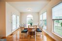 Lovely light fills the casual dining area - 12 GABRIELS LN, FREDERICKSBURG