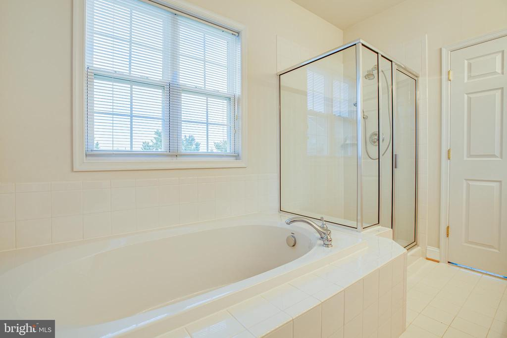 Soaking tub and shower with glass doors - 12 GABRIELS LN, FREDERICKSBURG