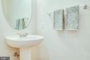 Main level half bath - 12 GABRIELS LN, FREDERICKSBURG