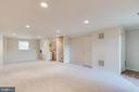 Basement with recessed lighting and laundry room - 15085 GALAPAGOS PL, WOODBRIDGE