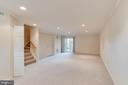 Large rec room in the walk-out basement - 15085 GALAPAGOS PL, WOODBRIDGE