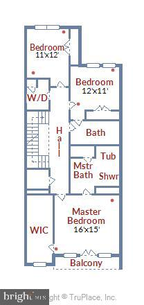 Bedroom Level Floor Plan - 20384 NORTHPARK DR, ASHBURN