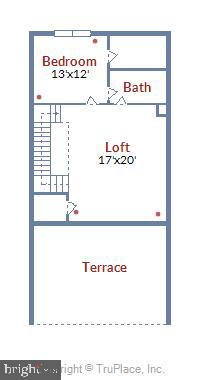 Loft Level Floor Plan - 20384 NORTHPARK DR, ASHBURN