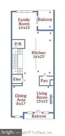 Main Level Floor Plan - 20384 NORTHPARK DR, ASHBURN