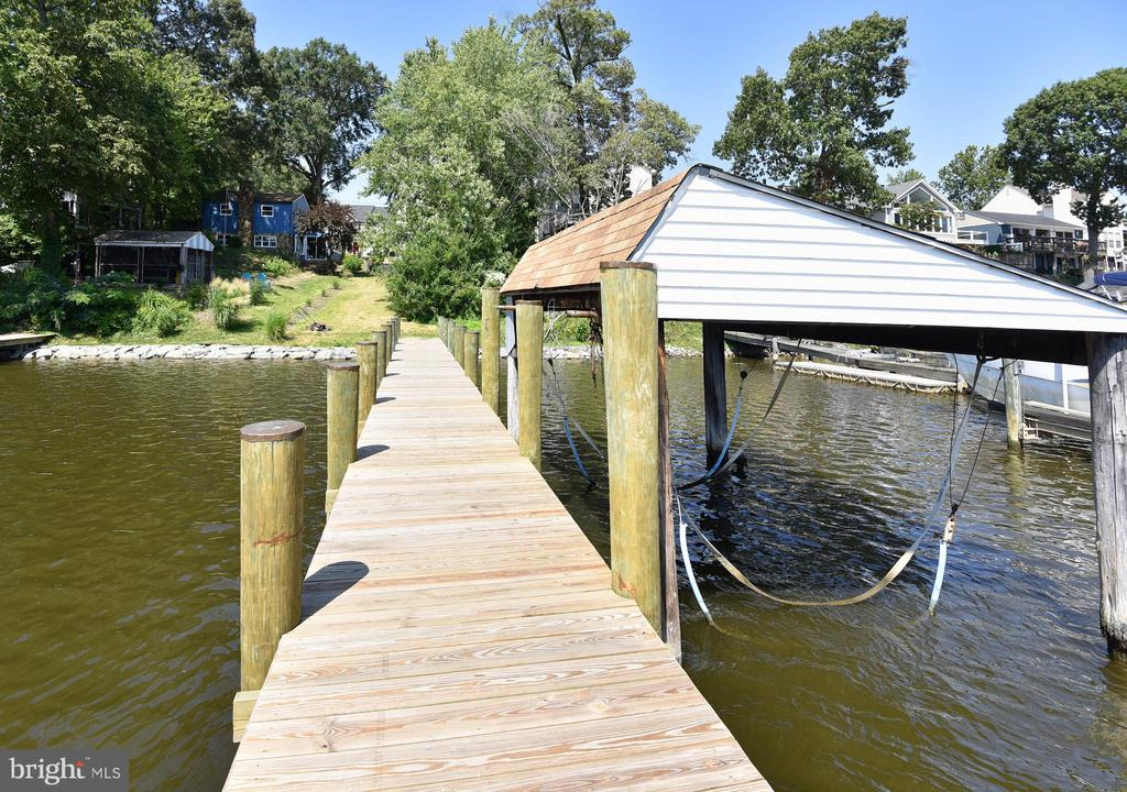 90' Long brand new pier with Existing Boat House. - 845 S SHORE DR, GLEN BURNIE