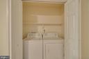 Enclosed laundry closet - 145 HARRISON CIR, LOCUST GROVE