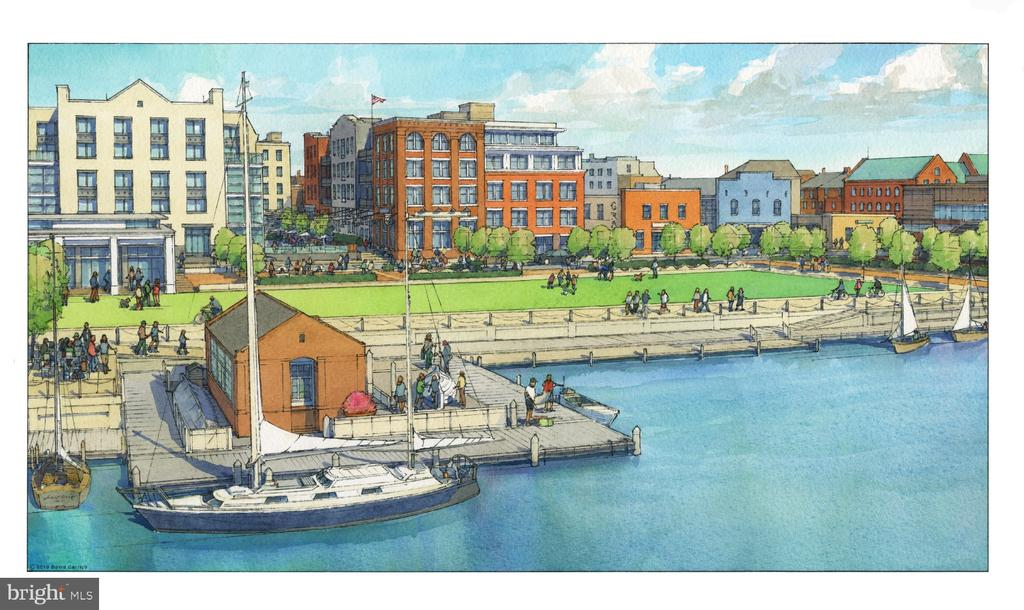 Rendering from Strand St / future waterfront park - 225 STRAND ST #304, ALEXANDRIA