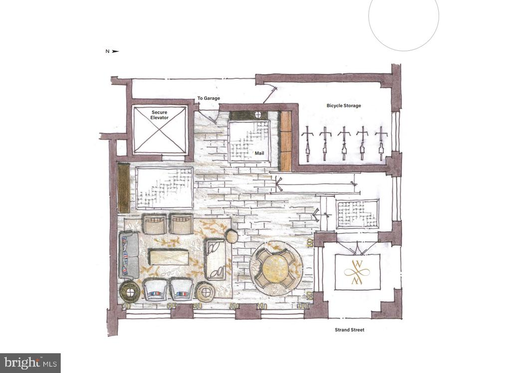 Lobby rendering - 225 STRAND ST #304, ALEXANDRIA