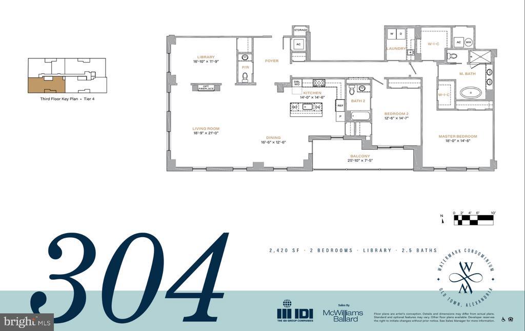 #304 floor plan - 225 STRAND ST #304, ALEXANDRIA