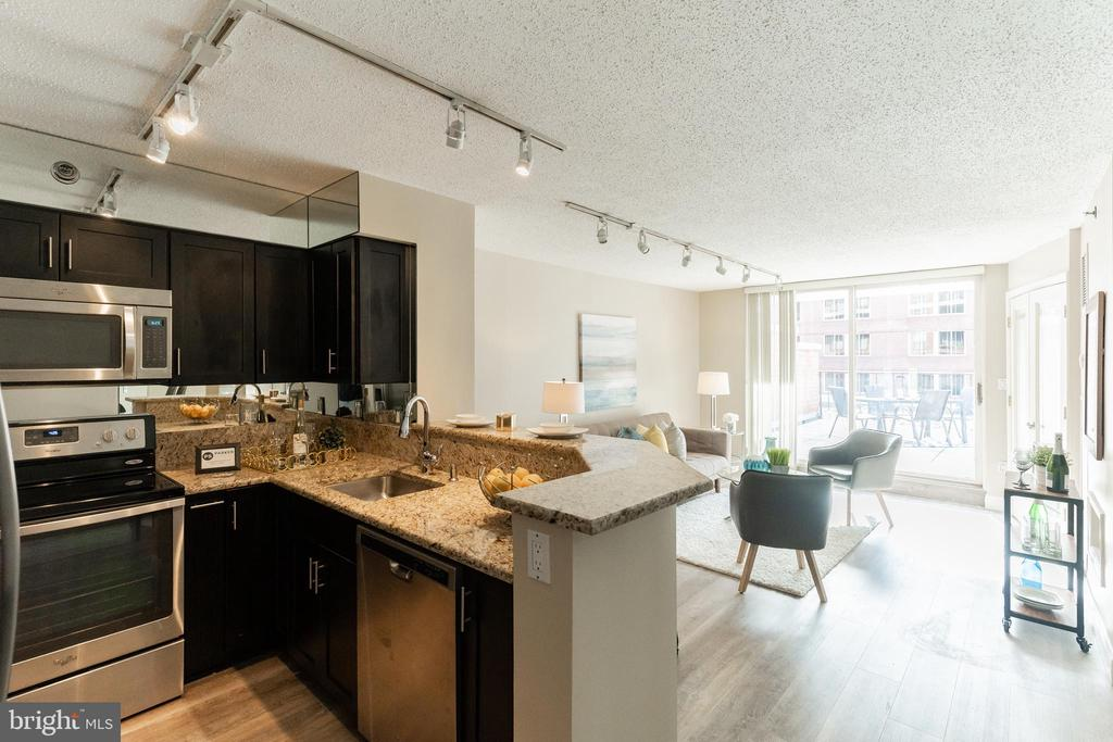 Kitchen & Living Area - 1230 23RD ST NW #503, WASHINGTON