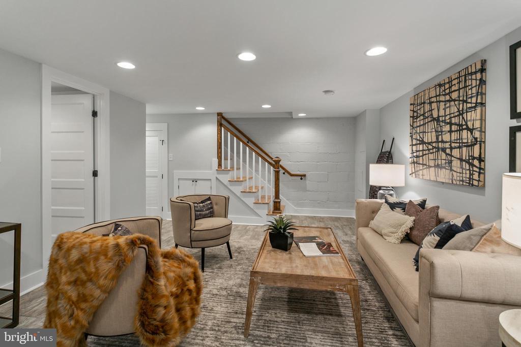 Lower Level Living Room - 1511 FOXHALL RD NW, WASHINGTON