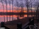 Sunset from the deck - 11404 SEYMOUR LN, SPOTSYLVANIA