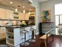 A renovated kitchen with ample storage space. - 17 6TH ST SE, WASHINGTON