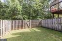 Fenced back yard - 13002 LIMESTONE CT, CLIFTON